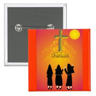 """""""Alleluia"""" Catholic Religious Gifts Button"""