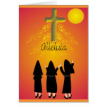 """""""Alleluia"""" Catholic Religious Gifts Greeting Card"""