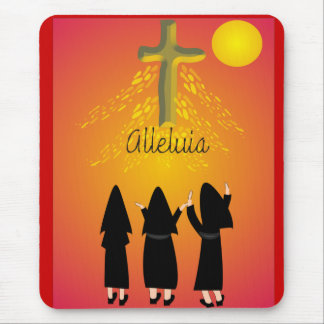 """""""Alleluia"""" Catholic Religious Gifts Mouse Pad"""