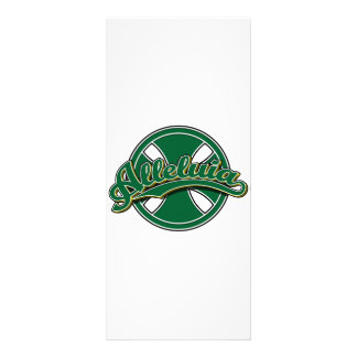 Alleluiah cross in green rack card