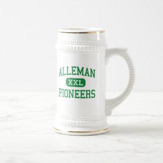 Alleman - pioneros - alto - isla Illinois de la ro Jarra De Cerveza