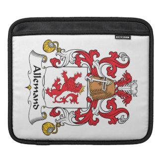 Allemand Family Crest Sleeve For iPads
