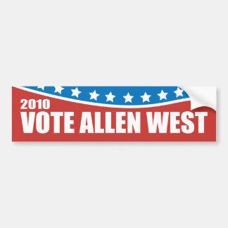 Allen 2010 del oeste pegatina para auto
