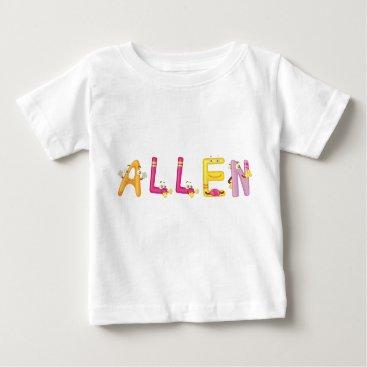 Beach Themed Allen Baby T-Shirt