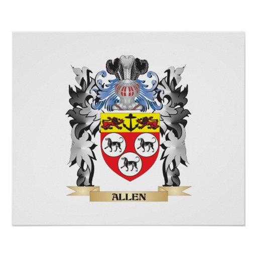 Allen Coat of Arms - Family Crest Poster