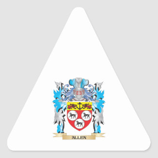 Allen Coat Of Arms Triangle Stickers