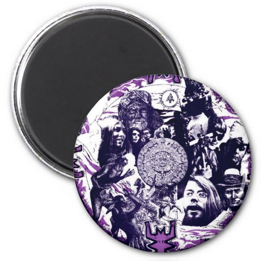 Allen Cohen Gahtering of the tribes 2 Inch Round Magnet