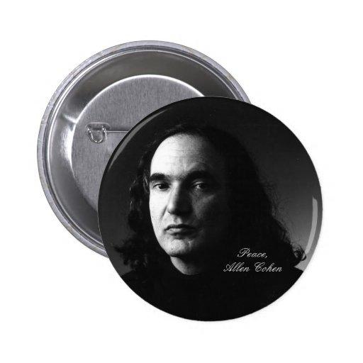Allen Cohen Portrait  Button