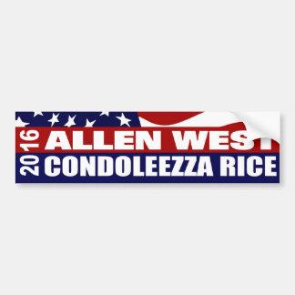 Allen Condoleezza Rice del oeste 2016 Pegatina Para Auto
