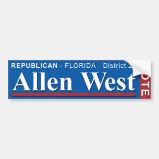 Allen del oeste para el congreso 2010 de los pegatina para auto