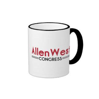 Allen del oeste para el congreso tazas