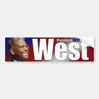 Allen del oeste para el presidente - 2012 etiqueta de parachoque