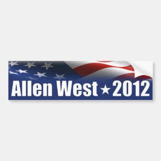 Allen del oeste para el presidente - 2012 pegatina para auto