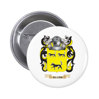 Allen-England Coat of Arms Family Crest Pinback Button