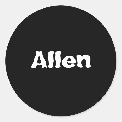 Allen Etiqueta Redonda