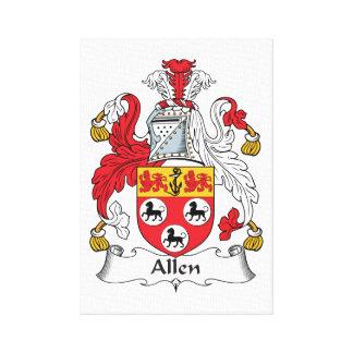 Allen Family Crest Gallery Wrap Canvas