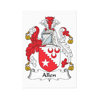 Allen Family Crest Gallery Wrapped Canvas