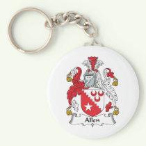 Allen Family Crest Keychain