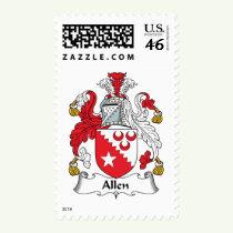 Allen Family Crest Stamps