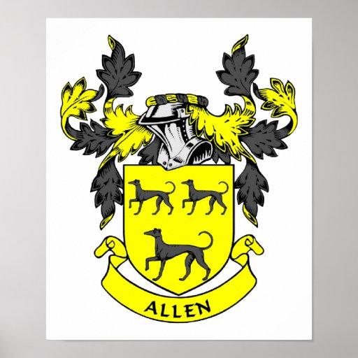 Allen Family Crest Poster