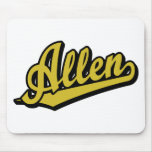 Allen in Gold Mouse Pads