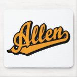 Allen in Orange Mouse Pads