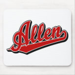 Allen in Red Mouse Pad