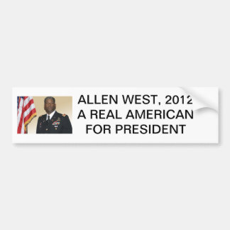 Allen-oeste, ALLEN DEL OESTE, AMERICANO REAL 2012A Pegatina Para Auto