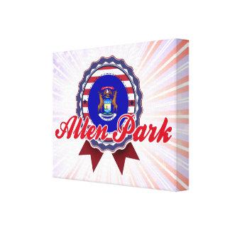 Allen Park, MI Stretched Canvas Print