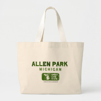 Allen Park Michigan Great Lake State Canvas Bag