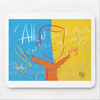 Allen Rises Among the Masses by Kelvin Huggins Alfombrillas De Raton