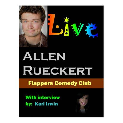 Allen Rueckert LIVE Post Card