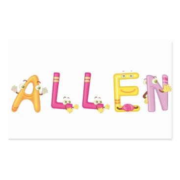 Beach Themed Allen Sticker