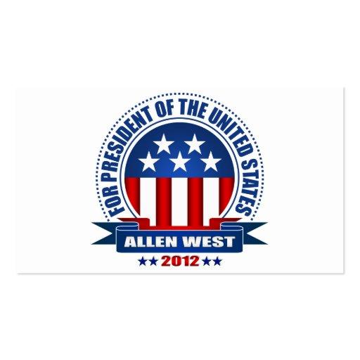 Allen West Business Card Templates