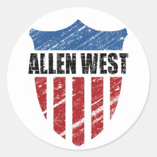 Allen West Classic Round Sticker