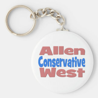 Allen West Conservative Key Chain - pink