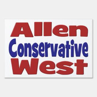 Allen West Conservative Yard Sign