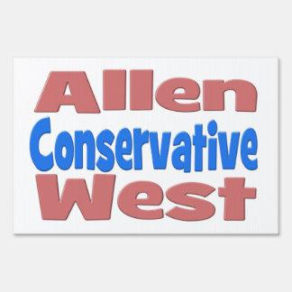 Allen West Conservative Yard Sign - pink