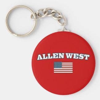 Allen West for America Basic Round Button Keychain