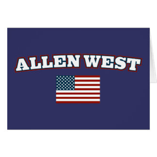 Allen West for America Card