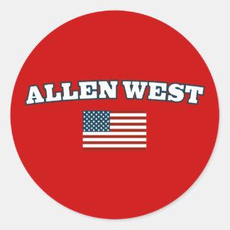 Allen West for America Classic Round Sticker