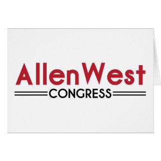 Allen West for Congress Card