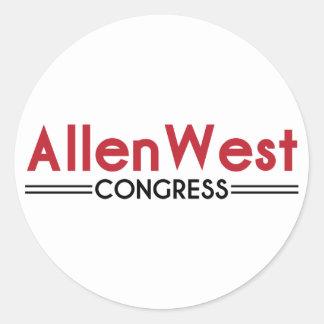 Allen West for Congress Classic Round Sticker