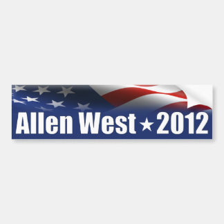 Allen West for President - 2012 Bumper Sticker
