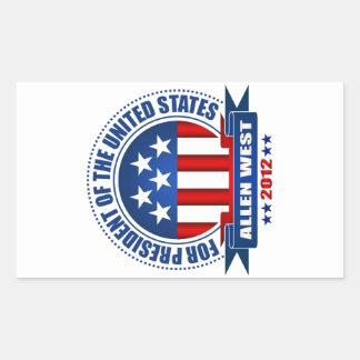 Allen West Rectangular Sticker