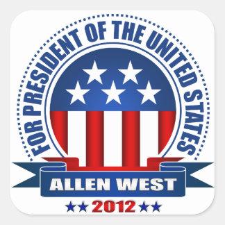 Allen West Square Sticker