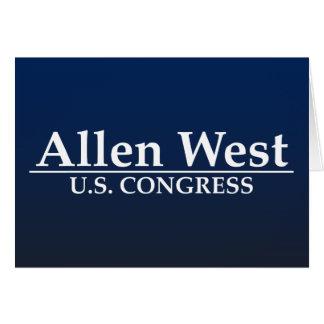 Allen West U.S. Congress Card