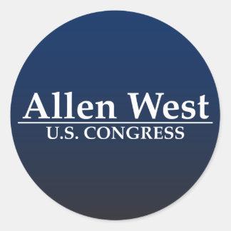 Allen West U.S. Congress Classic Round Sticker