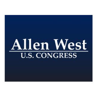Allen West U.S. Congress Postcard