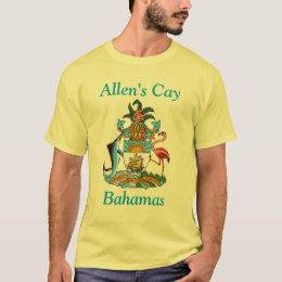 Allen's Cay, Bahamas with Coat of Arms T-Shirt